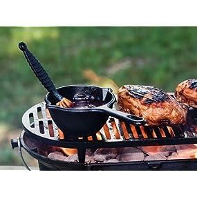 Lodge pot, BBQ sauce pot, sauce pan, cast iron pot