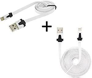 Shot Case Charger Pack for iPod Nano Lightning Cable Noodle 3M + 1 m Noodle Cable USB Apple iOS 白色