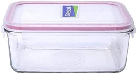 韩国原装进口Glasslock三光云彩钢化玻璃保鲜盒长方形系列保鲜盒MCRB-110(RP518) 1100ml