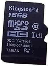 Kingston Digital 16GB microSDHC Class 10 UHS-I 45MB/s 读卡带 SD 适配器 (SDC10G2/16GB)