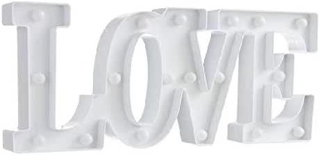 d'casa DCASA 字* LED 装饰家具贴纸家居装饰中性成人,白色(白色)