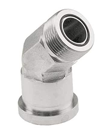 Anchor Fluid Power 644-24-24 代码 62 碳钢 45 度弯管分体法兰适配器,5.08 厘米-30.48 厘米管长,3.81 厘米法兰尺寸,碳钢