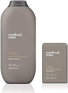 Method 男士 - 雪松 + 柏树沐浴露 18 盎司(约 510.3 克)& 雪松 + 埃塞罗 香皂 - 2 件套
