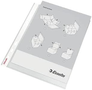 Esselte 标准 Prospekthüllen – genarbt, A4, 100件 0.04 mm 透明