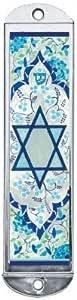 优质 Judaica Mezuzah 手机壳,金属艺术,10.16 厘米 浅蓝色
