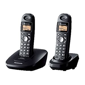 松下KX-TG10CN-2 2.4GHz数字无绳电话机(星绚黑,中英文显示,多方通话,IP速拔功能)