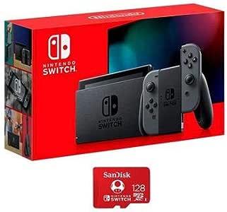 Nintendo 任天堂 32GB Switch with Gray Joy-Con Controller - 带 SanDisk 128GB UHS-I microSDXC 存储卡