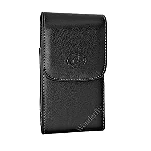 摩托罗拉 Moto G5 Plus 或 G5S 皮套 Black Vertical Leather Small Case