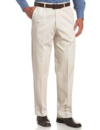 Haggar 男士加大加长工作到周末隐藏式可扩展腰围无褶长裤 String 44W x 34L