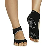 Gaiam Grippy Toeless Yoga Socks (Mary Jane)