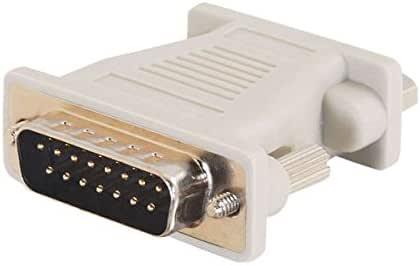 C2G / Cables to Go 02902 Mac DB15 公对 VGA HD15 母端适配器,米色