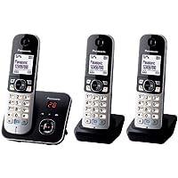Panasonic松下 KX-TG6822GS DECT - 无绳电话,图形显示屏带电话答录机 黑色 Trio mit…