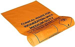 Ability Superstore 18/28 x 39 英寸 110 号 90 升容量中等承载橙色*废料袋 - 200 支装