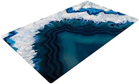 "KESS InHouse KIH214ADR02 KESS 原创""蓝色地理""自然摄影梭织小地毯,4 英尺 X 6 英尺,"