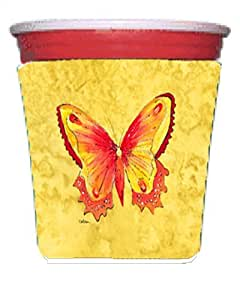 Butterfly on Yellow Michelob Ultra Koozies for slim cans 8857MUK 多色 Red Solo Cup