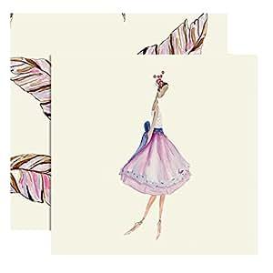C.R. Gibson Cid Pear Gift Enclosure Cards, Lavender Ballerina, 12-Count (CID4-12531)