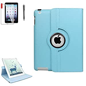 iPad * 6 代 iPad 保护壳 - Apple iPad 9.7 英寸 2018 2017 保护套 - 360 度旋转支架,屏幕保护膜,防水,防震,自动*唤醒 - A1893 A1954 A1822 A1823