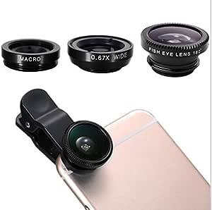 三合一镜头夹 华为 P10 Lite 通用智能手机微距鱼眼广角金属可拆卸袋