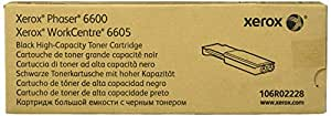 Genuine Xerox High Capacity Black Toner Cartridge for the Phaser 6600 or WorkCentre 6605, 106R02228