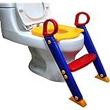 Chummie Joy 6 合 1 便携式马桶训练梯座椅适合男孩和女孩,带防滑脚,可调节踏板,舒适的马桶座和扶手