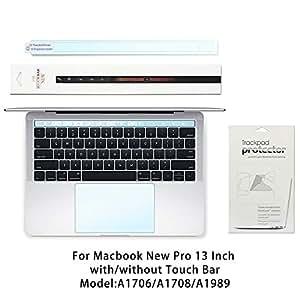 Palm Rest Cover Touch Bar Skin 带触摸板保护膜,适用于 2018 或 2017 或 2016 发布的 13 英寸 MacBook Pro 型号 A1706 A1989 带触摸杆