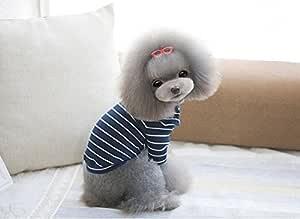 6d 宠物狗春秋便宜的小狗宠物狗衣服下装衬衫 蓝色 XL