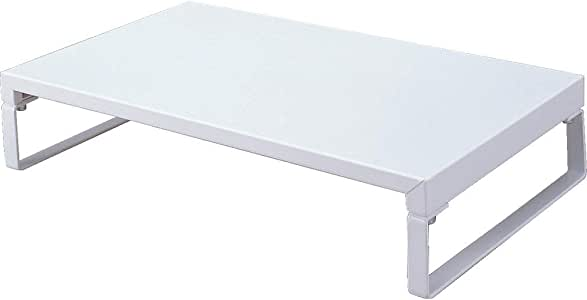 LIHIT LAB 桌面支架(显示器支架) 9.8 x 15.4 x 3.1 inches 白色
