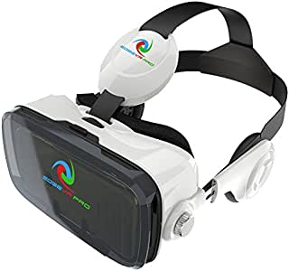 EDGE VR PRO 3D Virtual Reality Headset 3D Glasses VR BOX with Headphone for 4.0~6.0 Inches IOS Android Smartphones iPhone 6/6 plus, Samsung Galaxy S6 Edge+, Adjustable Focal Distance