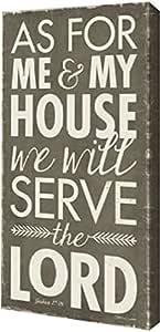"PrintArt GW-POD-59-SM1511014-10x20""Serve The Lord"" 作者 Stephanie Marrott 画廊装裱艺术微喷油画艺术印刷品,25.4cm x 50.8cm"