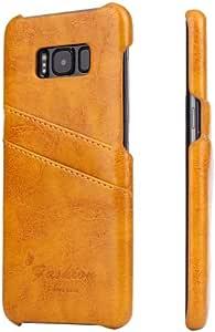 alsatek 聚氨酯皮革保护套,适用于 Galaxy S8 黄色