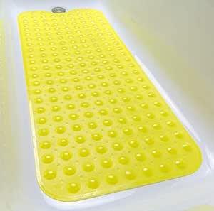 Tike Smart 优质浴缸垫 - 长,超长 Transparent Light Yellow 两个 XL
