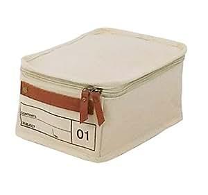 moc 收纳盒 帆布储存盒 01 象牙色 MOC-CV01-IV