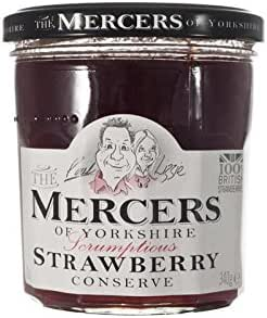 Mercers Strawberry Conserve 340 g (Pack of 6)