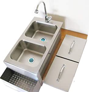 Sunstone Grills 14 In. Cocktail Station with Sink 不锈钢 14W x 30.5D x 11H in.