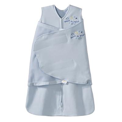 HALO美国包裹式婴儿安全睡袋纯棉蓝色S