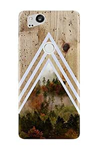 Google Pixel 2手机保护套–保护套 ESCAPE–自然灵感–木作设计–耐冲击–哑光 Shell–手机保护套 Dense Forest