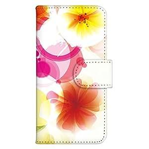 智能手机壳 手册式 对应全部机型 印刷手册 wn-533top 套 手册 花朵图案 UV印刷 壳WN-PR142530-MX Fx0 LGL25 B款