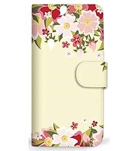 MITAS 智能手机保护壳翻盖型春桜  米黄色 4_AQUOS EVER (SH-04G)