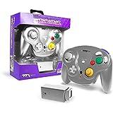 Ttx Gamecube Wavedash Wireless2.4 Ghz 控制器银色,适用于 Nintendo Gam…