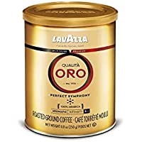 LAVAZZA Qualita Oro混合咖啡粉,中度烘焙,8.8盎司罐装/250克(4件装)(包装可能有所不同)