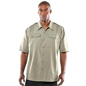 Under Armour 男式计数器短袖战术衬衫上衣 S 码 沙漠沙漠沙漠