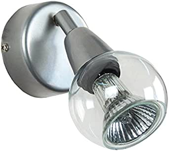 Tosel 70031 壁射灯 – Caki,钢板,环氧树脂,玻璃人工吹制,E14,100W,透明