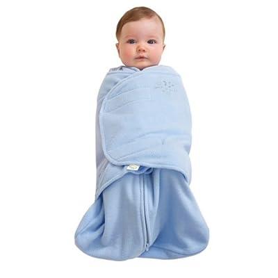 美国HALO 包裹式婴儿安全睡袋摇粒绒蓝色S