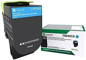 Lexmark 71B1HK0 CS417dn CX417de CS517de CX517de 高产回收计划墨盒 OEM 1 码 青色