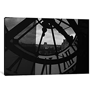 iCanvasART 18-1PC3 Clock Tower in Paris Canvas Print by Unknown Artist, 0.75 by 8 by 12-Inch