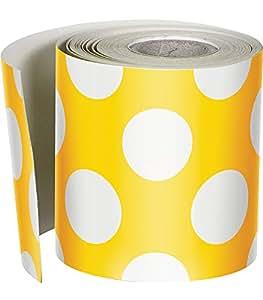 Schoolgirl Style Just Teach 卷边直波尔卡圆点边 Yellow with Polka Dots Yellow With Polka Dots