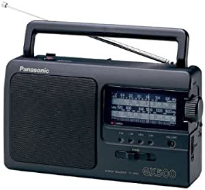 Panasonic 松下 便携式收音机 RF-3500E9-K(模拟调谐器UKW/MW/LW/KW,电源或电池驱动),黑色