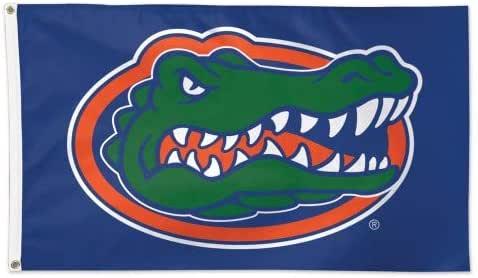Wincraft 佛罗里达大学短吻鳄队 UF 纯蓝色 NCAA 橄榄球 7.62 x 1.52 cm 旗帜