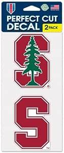 WinCraft 斯坦福大学红雀队 10.16 厘米 x 20.32 厘米模切贴花(两件 - 10.16 厘米 x 10.16 厘米贴花)