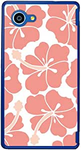 SECOND SKIN 北欧扶桑花 米色粉色 (透明) / for AQUOS SERIE mini SHV33/au ASHV33-PCCL-201-Y430